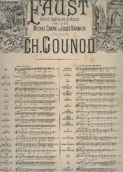 FAUST - N° 7 : BALLADE DU ROI DE THULE - POUR PIANO.