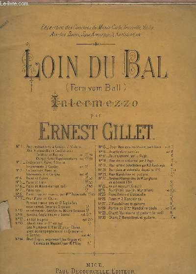 LOIN DU BAL - INTERMEZZO - POUR PIANO A 4 MAINS.