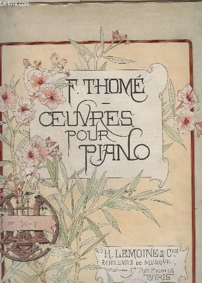 VALSE N°3 : DECLARATION - OP.36 - POUR PIANO.
