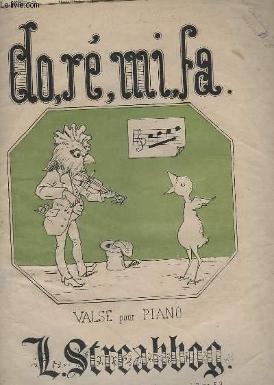 DO, RE, MI, FA. - VALSE POUR PIANO - OP.138.