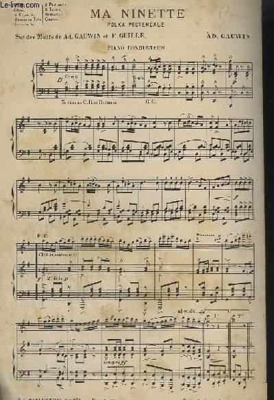 MA MINETTE - POLKA PROVENCALE - PIANO CONDUCTEUR.