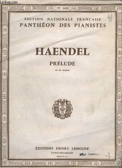 PRELUDE - EN SOL MAJEUR - EDITION NATIONALE FRANCAISE PANTHEON DES PIANISTE N° 1438.