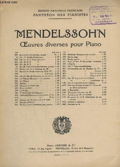 OEUVRES DIVERSES POUR PIANO - N°12 : RONDO CAPRICCIOSO OP.14.