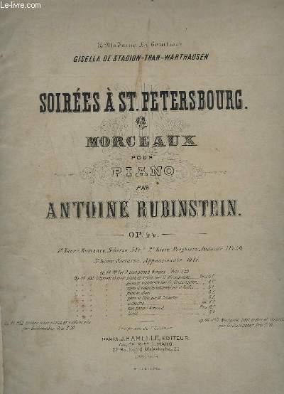 SOIREES A ST. PETERSBOURG - 6 MORCEAUX POUR PIANO - OP.44.