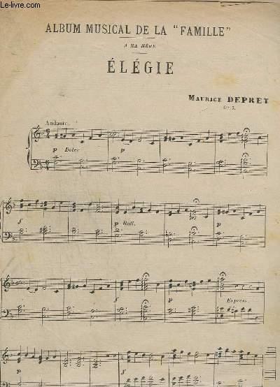 ALBUM MUSICAL DE LA FAMILLE - ELEGIE - OP.7.