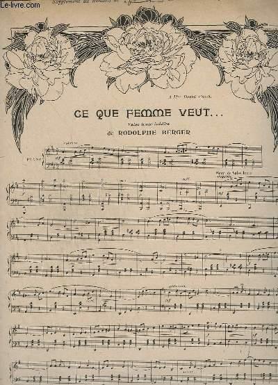 CE QUE FEMME VEUT... - POUR PIANO.