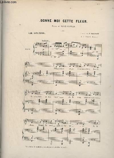 DONNE-MOI CETTE FLEUR - POUR PIANO.