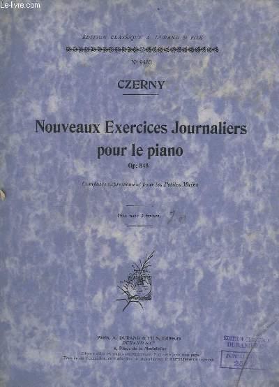 NOUVEAUX EXERCICES JOURNALIERS POUR LE PIANO - OP.848 - COMPOSES EXPRESSEMENT POUR LES PETITES MAINS - N°9463.