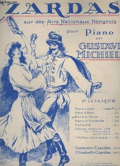 CZARDAS N° 6 SUR AIRS NATIONAUX HONGROIS - POUR PIANO ET VIOLON.