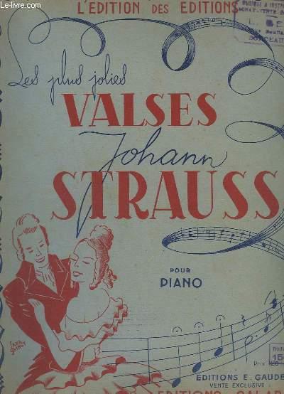 LES PLUS JOLIES VALSES - POUR PIANO - 10 TITRES : LE BEAU DANUBE BLEU + LA FORET DE VIENNE + FEUILLES DU MATIN + DIS-MOI TU, DIS-MOI TOI + ROSES DU MIDI .. TEXTE FRANCAIS/ALLEMAND.