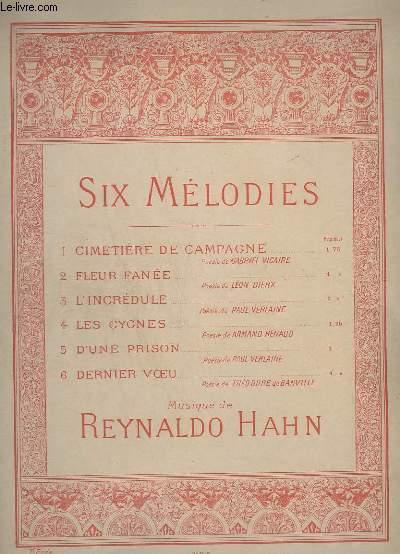 6 MELODIES - N° 4 : LES CYGNES - POUR PIANO.