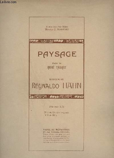 PAYSAGE - N° 1 : EN UT (TON ORIGINAL) - POUR CHANT ET PIANO.