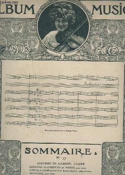 ALBUM MUSICA - N°77 - DEUXIEME NOCTURNE EN SI MAJEUR + L'HIVER A CESSE + SICILIENNE + NOCTURNE + FUGUE + SHYLOCK + LE JARDIN DE DOLLY.