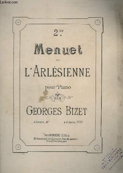 2EME MENUET DE L'ARLESIENNE POUR PIANO.