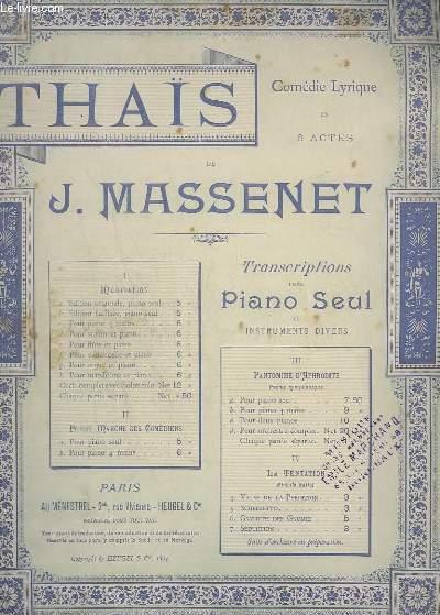 THAIS - N°1 A : POUR PIANO.