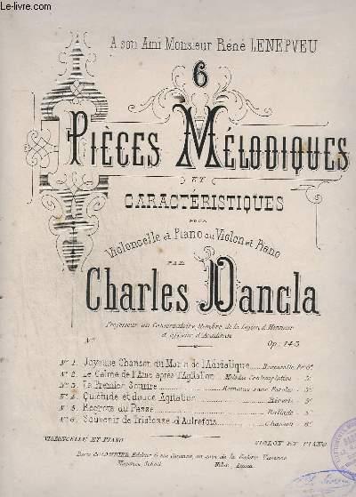 6 PIECES MELANCOLIQUES ET CARACTERISTIQUES - N° 4 : QUIETUDE ET DOUCE AGITATION POUR PIANO ET VIOLONCELLE.