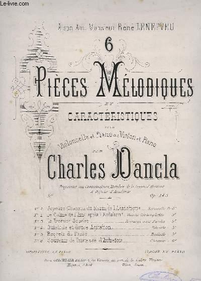 6 PIECES MELANCOLIQUES ET CARACTERISTIQUES - N° 5 : REGRETS DU PASSE - POUR PIANO ET VIOLONCELLE.