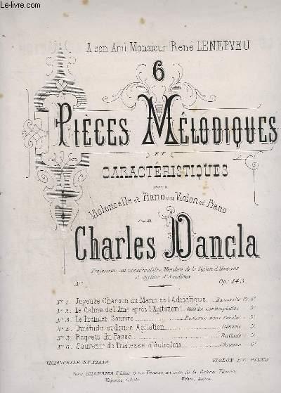 6 PIECES MELANCOLIQUES ET CARACTERISTIQUES - N° 2 : LE CALME DE L'AME APRES L'AGITATION  POUR PIANO ET VIOLONCELLE OU VIOLON.