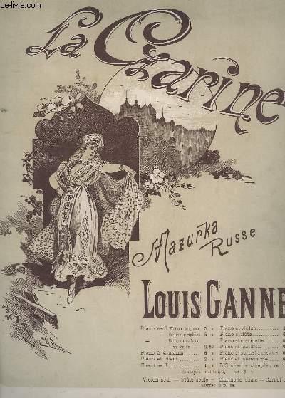 LA CZARINE - MAZURKA RUSSE POUR PIANO.