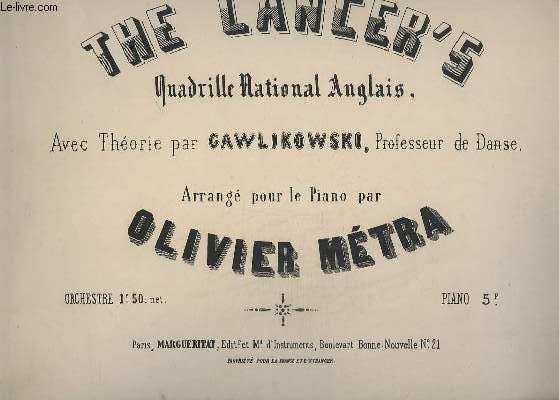 THE LANCER'S - QUADRILLE NATIONAL ANGLAIS.- PIANO.