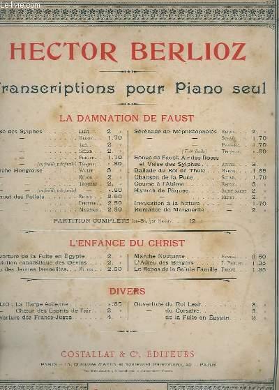 TRANSCRIPTION POUR PIANO SEUL - MARCHE HONGROISE DE REDON.