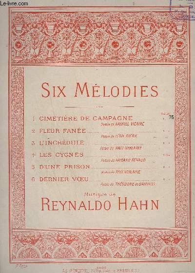 6 MELODIES - N° 1 : CIMETIERE DE CAMPAGNE - PIANO/CHANT.