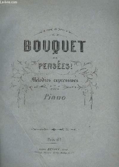 BOUQUET DE PENSEES ! - MELODIES EXPRESSIVES POUR PIANO.