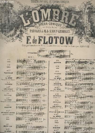 L'OMBRE - OPERA COMIQUE - POUR PIANO - N°14 : COUPLETS.