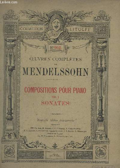 COMPOSITIONS POUR PIANO - VOLUME 1 : SONATES + SONATE 2 (COMP.1821) - EN 1 VOLUME - N°902.
