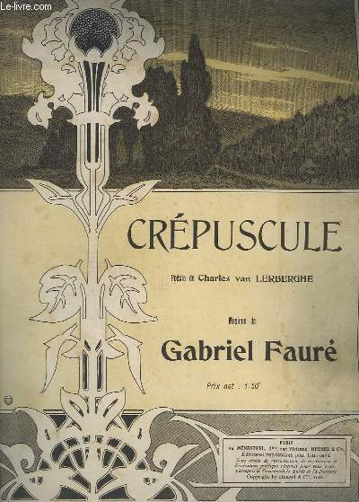 CREPUSCULE - PIANO ET CHANT.