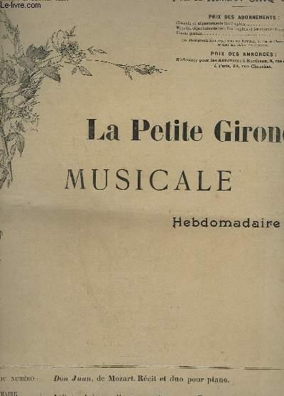 LA PETITE GIRONDE MUSICALE N°3 : DON JUAN - RECIT ET DUO POUR PIANO.