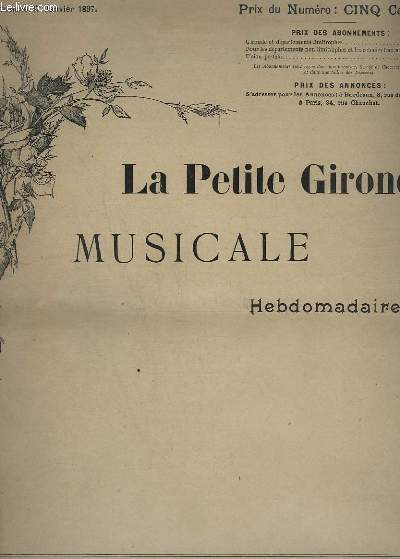 LA PETITE GIRONDE MUSICALE N°1 : CAPRICE-MENUET - POUR PIANO.