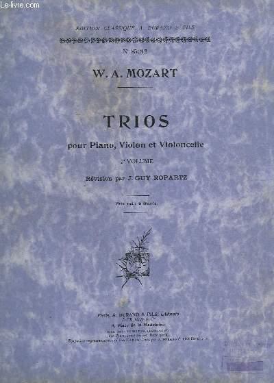 TRIOS - POUR PIANO, VIOLON ET VIOLONCELLE - VOLUME 2 : TRIO N° 4 AU N°6.