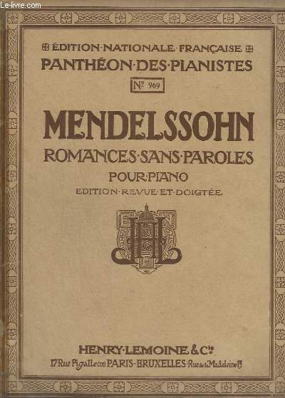 Romances sans paroles pour piano - n°969.