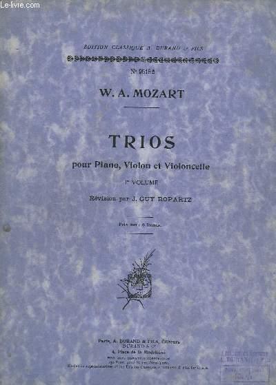 TRIOS - POUR PIANO, VIOLON ET VIOLONCELLE - VOLUME 1 : TRIO N° 1 A 3.- EDITION N° 9518A.