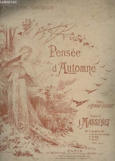 PENSEE D'AUTOMNE - N° 2 : EN FA (TON ORIGINAL) - CHANT ET PIANO.