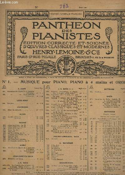 OEUVRES POUR PIANO N° 783 : SONATE EN UT MAJEUR - A 4 MAINS.- OP.67.