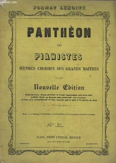 PANTHEON DES PIANISTES - OEUVRES CHOISIES DES GRANDS MAITRES - N°25 : SONATE - EN UT MAJEUR POUR PIANO.