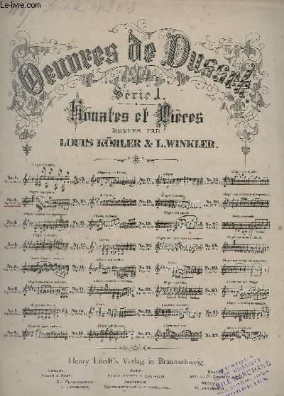 OEUVRES DE DUSSEK - SERIE 1 : SONATES ET PRIERES - N°2 : OP.9 N°2.