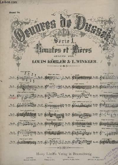 OEUVRES DE DUSSEK - SERIE 1 : SONATES ET PRIERES - N°3 : OP.9 N°3.