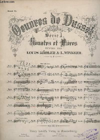 OEUVRES DE DUSSEK - SERIE 1 : SONATES ET PRIERES - N°14 : OP.35 N°1.