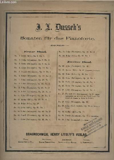 SONATEN FÜR DESPIANOFORTE - N°19 : OP.39 N°3.