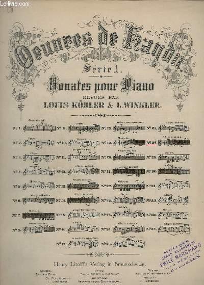 OEUVRES DE DUSSEK - SERIE 1 : SONATES POUR PIANO - N°28.