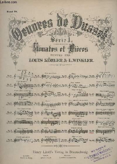 OEUVRES DE DUSSEK - SERIE 1 : SONATES ET PRIERES - N°31 : OP.77.