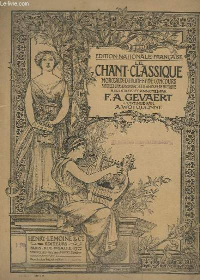 LE CHANT CLASSIQUE - N°376 - GRAND AIR DE VENUS - PIANO.