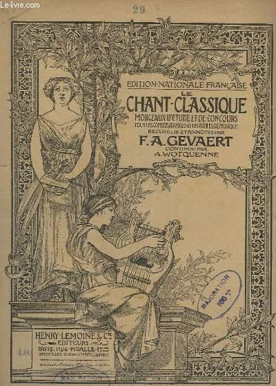 LE CHANT CLASSIQUE - N°29 - MONOLOGUE D'ARMIDE  - PIANO.