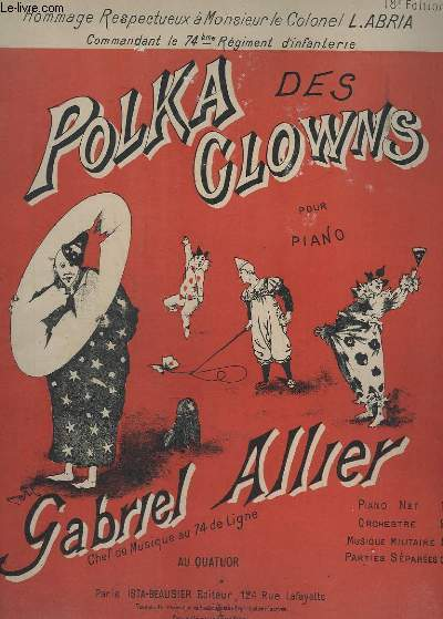 POLKA DES CLOWNS - POUR PIANO.
