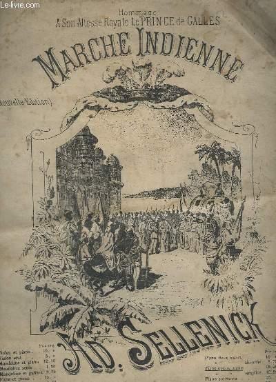 MARCHE INDIENNE - POUR PIANO A 4 MAINS.