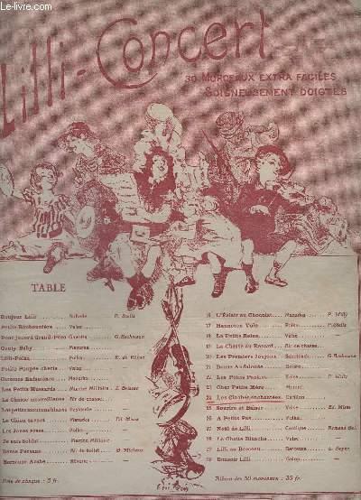 LILI CONCERT - MORCEAUX EXTRA FACILES - N° 24 : LES CLOCHES ENCHANTEES - CARILLON - POUR PIANO.