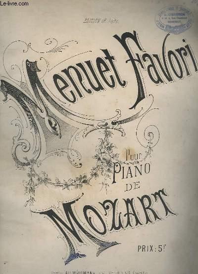 MENUET FAVORI POUR PIANO.